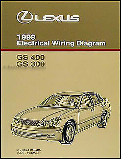 1999 Lexus GS 300 400 Wiring Diagram Manual NEW GS300 GS400 Original Electrical