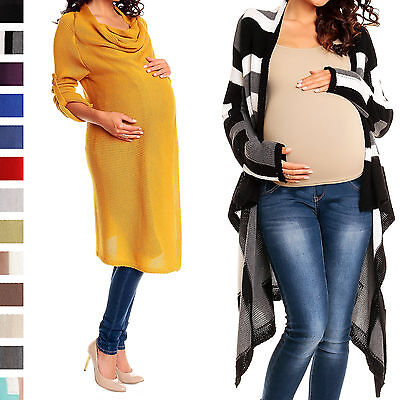 Happy Mama Women's Maternity Waterfall Cardigan Blazer Knit Coat Long Wrap 349p