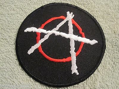 """ANARCHY Embroidered Patch Punk  Protest """"Anarchy"""" Patch Punk Protest"""
