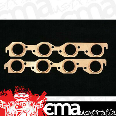 """Sce Pro Copper Embossed Exhaust Gaskets Sce-4313 Suit Chev Bb V8 2.050"""" Round"""