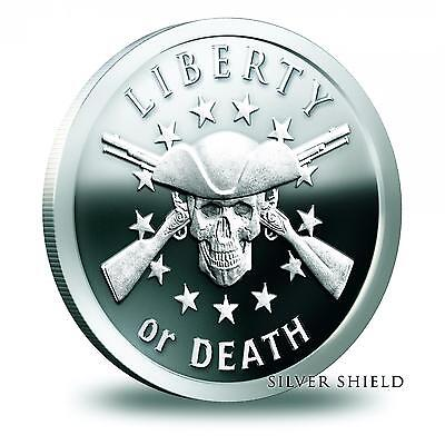 2014 Silver Shield Liberty Or Death 1 oz .999 Silver Proof-Like Round USA Coin