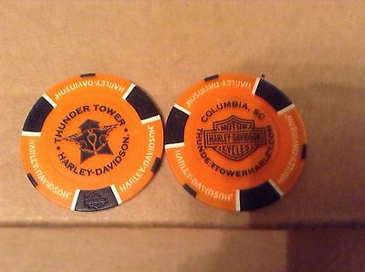 Poker Chip From Thunder Tower Harley Davidson Columbia Sc