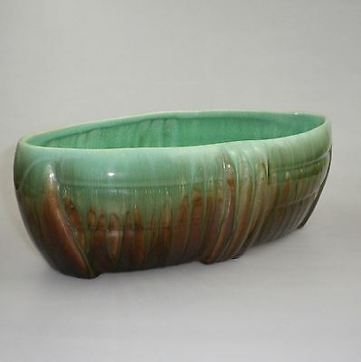 Large Early Newtone Pottery Boat Shaped Trough Vase
