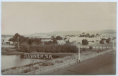 C1905 Rp Postcard J Iredell's Royal Hotel/town Reservoir Hawker Sa C1