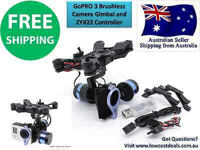 GENUINE Tarot T-2D V2 GoPRO 3 Brushless Camera Gimbal and ZYX22 Controller