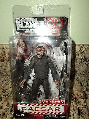 DAWN OF THE PLANET OF THE APES CAESAR ACTION FIGURE NECA MOVIE SERIES 2 CEASAR