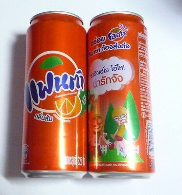 FANTA ORANGE Can THAILAND 325ml Thai Language 2014 Tall Asia Collect Coca Cola