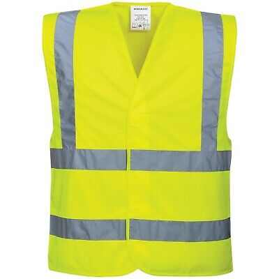 Yellow High Visibility Safety Vest / Waistcoat / Bib - EN471 - Large/XL