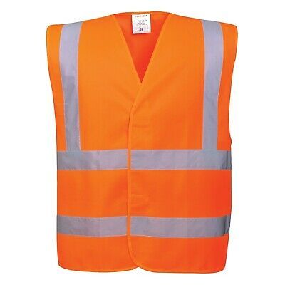 Orange High Visibility Safety Vest / Waistcoat / Bib - EN471 - Small/Medium