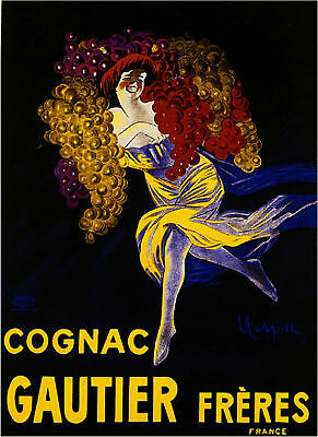French France Cognac Wine Gautier Freres Vintage Advertisement Art Poster Print