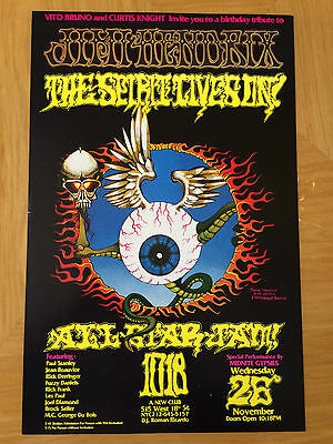 Paul Stanley of Kiss Jimmy Hendrix Birthday Tribute Show NYC Poster Rick Griffin