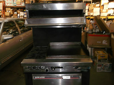 118RES219 USED Garland Stove 2 Burner With large  Griddle And char broiler