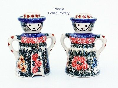 Polish Pottery Stoneware Poland Unikat Candle Holder Set (102-1625) Man Woman