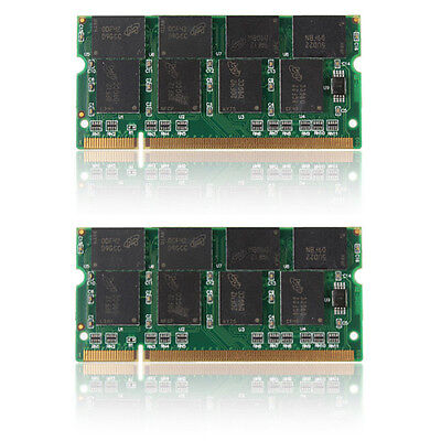 MEMORIA RAM 2GB(2X1GB ) DDR PC2700 333MHz DIMM LAPTOP PORTATILE PC2700S 200-Pin