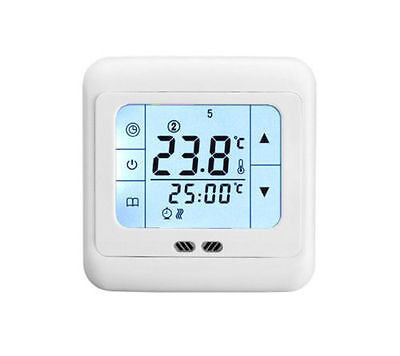 Touch Screen floor Heating Programmable Thermostat Room Temperature Controler