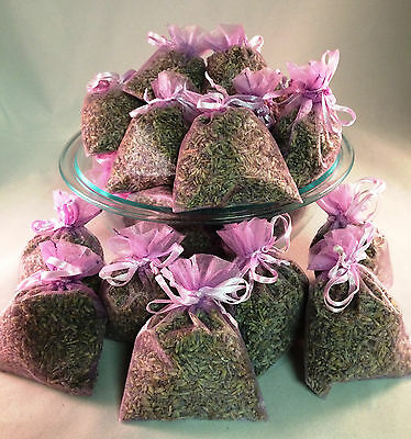 Set of 20 Lavender Sachets made with Orchid Organza Bags
