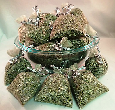 Set of 30 Lavender Sachets made with Silver Organza Bags