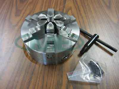 "6"" 6-JAW SELF-CENTERING  LATHE CHUCK w. solid jaws--0.003"" TIR---new"