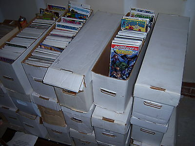 1 box Lot of 75 comics Marvel,DC other Publishers NO duplication