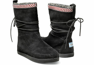 b2da6a26cac BLACK SUEDE TRIM WOMEN S NEPAL BOOTS TOMS SHOES. Style 10000443-BLACK