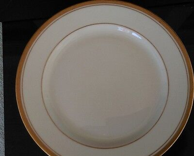 SET OF 8  OLD COLONY BY SYRACUSE CHINA BREAD SALAD DESSERT PLATES GOLD TRIM