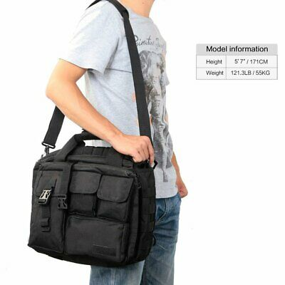 Men's Canvas DSLR Camera Bag Insert Case Shoulder Messenger Bag For Canon 5D 60D