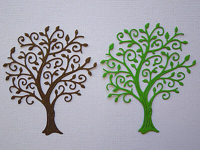 Tree Paper Die Cuts x 3 Sets Scrapbooking Card Topper Embellishment - NOT a DIE