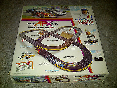 AFX Aurora Racing set, Complete Jackie Stewart Dual Oval Speedway, tested