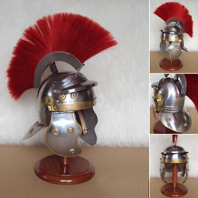 Medieval Roman Centurion Armor Helmet Spartan Costume helm w/ Leather Liner Gift
