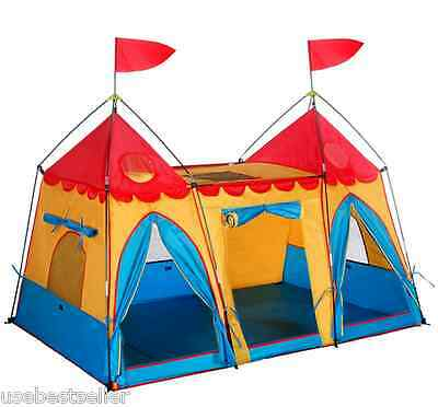 Play Tent Kids House Castle Indoor Outdoor Childrens Playhouse Portable Playhut