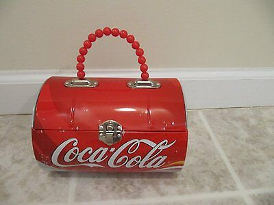 Coca Cola Coke Purse Metal Tote  New