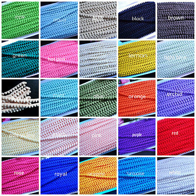 Baby Pom Pom Fringe, 3/8 inch wide -select color-selling by the yard