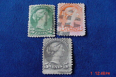 Canada stamp lot Young Queen Victoria 2 CENT 3 CENT 5 CENT Stamps+ 5 Pairs