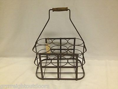 French Iron 6 Wine Bottle Holder Carrier Vintage Collection Home Essentials