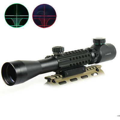 3-9x40 Hunting Rifle Scope Red/Green illuminated Range Finder with Mounts
