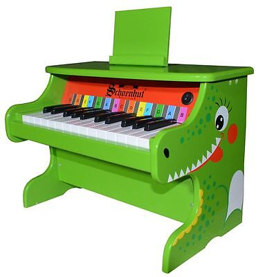 25 Key Electronic Piano for Children by Schoenhut -  Green Alligator Style