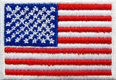 USA Flag Embroidered Patch American Iron On Patch United States 47 x 32 mm. DIY