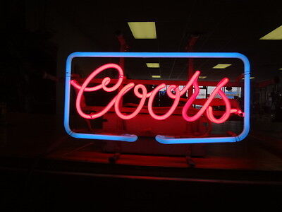 """Vintage 1980 """"COORS"""" NEON Sign! Works A-1 """"Everbrite Electric Signs"""" NO RES!!!!"""
