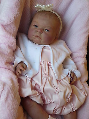 REBORN BERENGUER SWEET BABY GIRL DOLL BLONDE HAND-ROOTED HAIR BLUE EYES