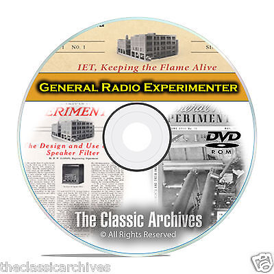 General Radio Experimenter Manuals 490 books Ham Crystal Wireless Set CD DVD B62