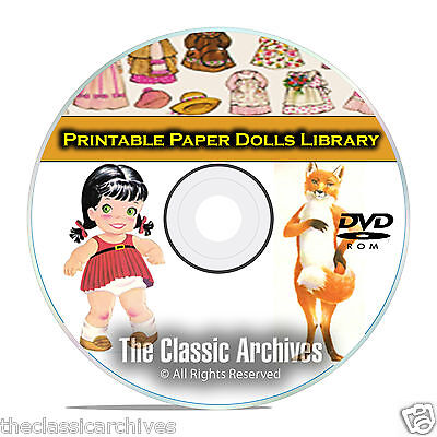 2,000 Plus Printable Paper Dolls Library, McCall Doll, Vintage Baby CD DVD B63