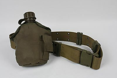 USGI Military Canteen 1 Quart, Canteen Cover and Belt Olive Drab USMC issued
