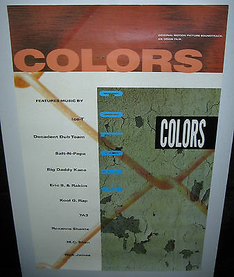 """Soundtrack: """"Colors"""" (1988 U.S. 23inch x 35inch """"In-Store Only"""" Promo Poster)"""