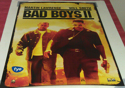 BAD BOYS II DVD MOVIE POSTER 1 Sided ORIGINAL 27x40 WILL SMITH