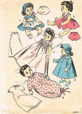 "8454 Vintage Baby Doll Patterns - Size 10.5"" -  Year 1955"