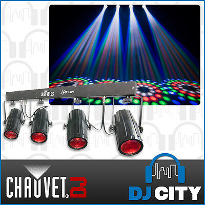 Chauvet DJ 4PlayBlack Black Lighting Pack 4 x LED Pinspots with Stand and Bag