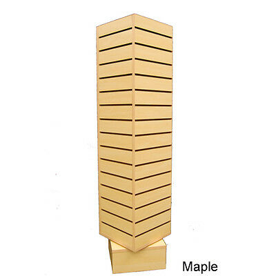"4 Sided Rotating Slatwall Display Tower Spinner - 54"" H - Maple - LI, NY PICKUP"