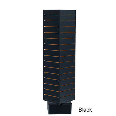 "4 Sided Rotating Slatwall Display Tower Spinner - 54"" H - Black - PICKUP ONLY"