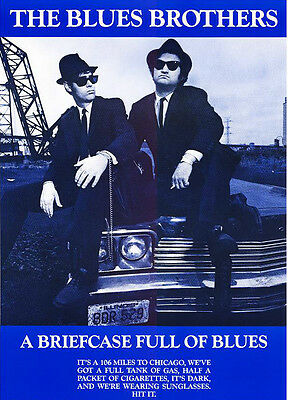 """The BLUES BROTHERS Poster - 24"""" x 36"""" - 28 YRS OLD BRAND NEW - RARE - movie -snl"""