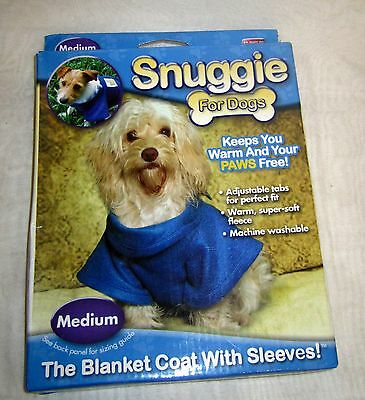 Dog Snuggie - The Blanket Coat With Sleeves - Blue - Size Medium